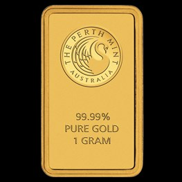 1g Perth Mint Gold Bar (Certicard)