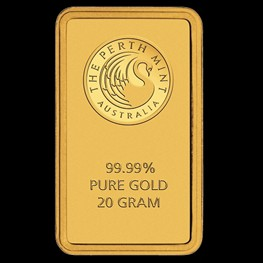20g Perth Mint Gold Bar (Certicard)
