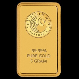 5g Perth Mint Gold Bar (Certicard)