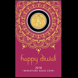 1g Perth Mint Gold Diwali Coin (in Card) pre order