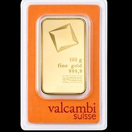 100g Valcambi Minted Gold Bar