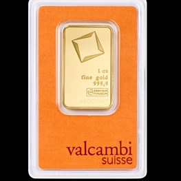 1oz Valcambi Minted Gold Bar