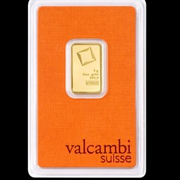 5g Valcambi Minted Gold Bar