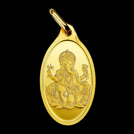 2.5g PAMP Minted Gold Pendant 'Ganesh'