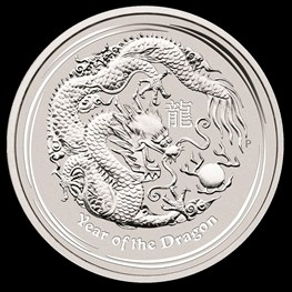 1oz Silver Lunar Dragon 2012