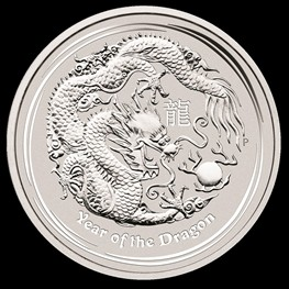 2oz Silver Lunar Dragon 2012