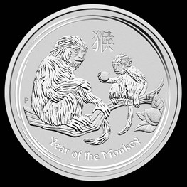 1oz Silver Lunar Monkey 2016