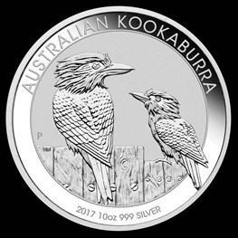 10oz Perth Mint Silver Kookaburra 2017