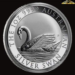 1oz Perth Mint Silver Swan Coin 2017