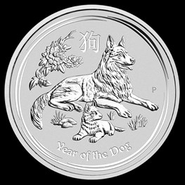 1oz Silver Lunar Dog 2018
