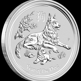 2oz Silver Lunar Dog 2018