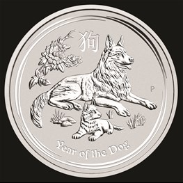 5oz Perth Mint Silver Lunar Dog 2018
