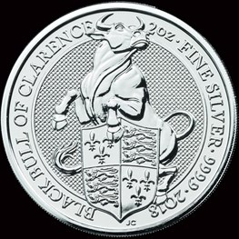 2018 Great Britain 2oz Queen's Beasts The Bull