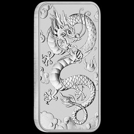 1oz Silver Rectangle Dragon Coin 2019