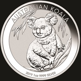 1oz Perth Mint Silver Koala 2019