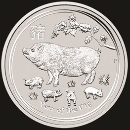 5oz Perth Mint Silver Lunar Pig 2019