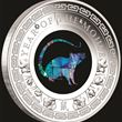 1oz PM Silver Lunar Mouse Opal Coin 2020