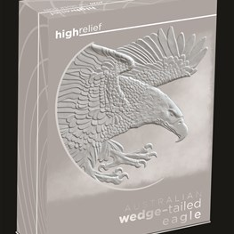 1oz Wedge-tailed eagle proof high relief 2020