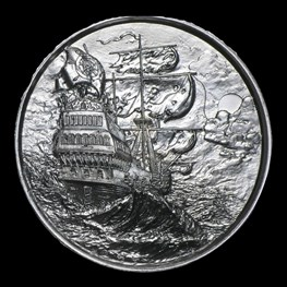 2oz Elemetal Privateer Ultra High Relief Silver
