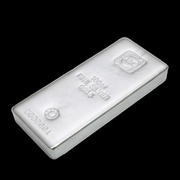 100oz ABC Silver Bar 'Cast'