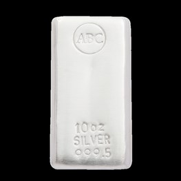 10oz ABC Bullion Silver Cast Bar