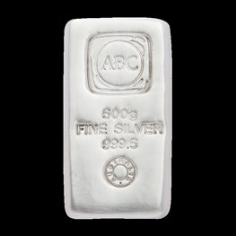 500g ABC Bullion Silver Cast Bar