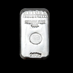 "250g Geiger Silver Bar ""Cast"""