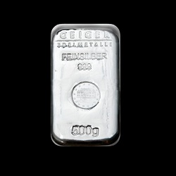 "500g Geiger Silver Bar ""Cast"""