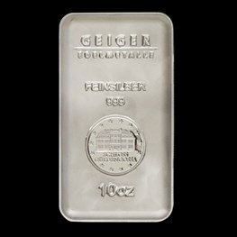 "10oz Geiger Security Line Silver Bar ""Minted"""