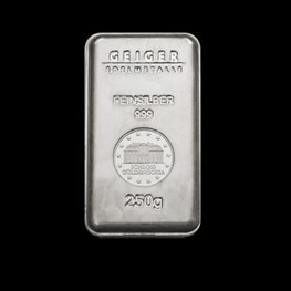 "250g Geiger Security Line Silver Bar ""Minted"""
