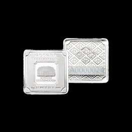 1g x25 Geiger Silver Square Bar (Capsule)
