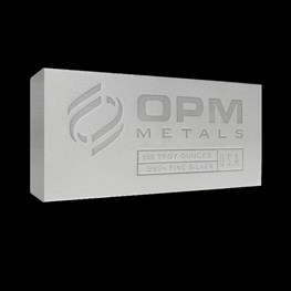 100oz OPM Silver Bar