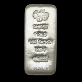 1kg PAMP Silver Bar 'Cast' Stock
