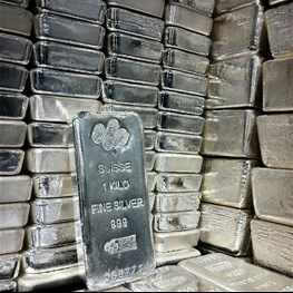 1kg PAMP Silver Bar 'Cast' No Cert (Trade-In)