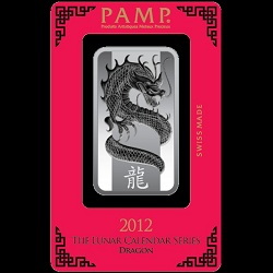 1oz Silver PAMP Dragon