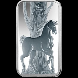 100g Silver PAMP 'Horse'