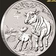 1/2oz Perth Mint Silver Ox Coin 2021
