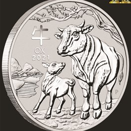 1oz Perth Mint Silver Ox Coin 2021