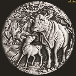 2oz Perth Mint Silver Ox Antiqued Coin 2021