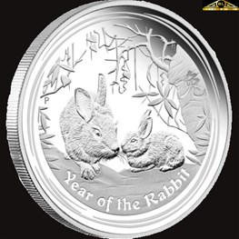 1oz Year of the Rabbit Silver 2011
