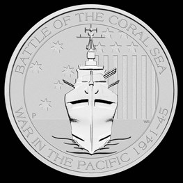 1/2 oz Silver Battle of the Coral Sea 2014