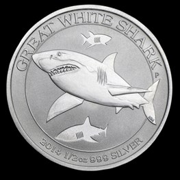 1/2 oz Silver Great White Shark 2014