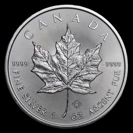 1oz Royal Canadian Mint Silver Maple Leaf  2019