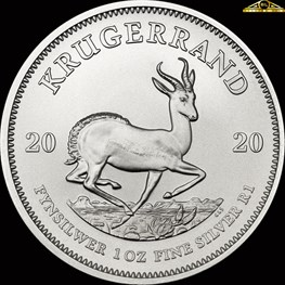 1oz South African Mint Silver Krugerrand Coin 2020