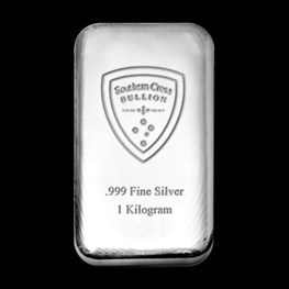 1kg Southern Cross Bullion 'Cast' Silver Bar