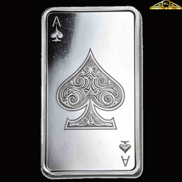 10oz Silver bar Ace of Spades